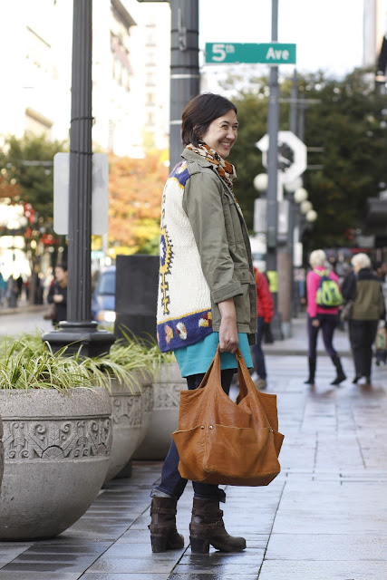 Amy Warzinik Downtown Seattle Street Style Anthropologie Jacket