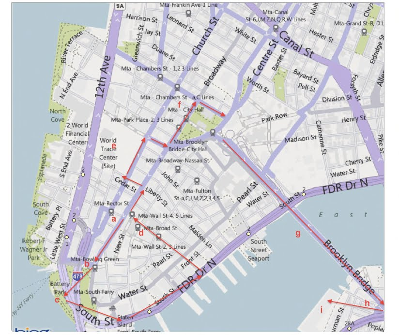 how to go to battery park by subway