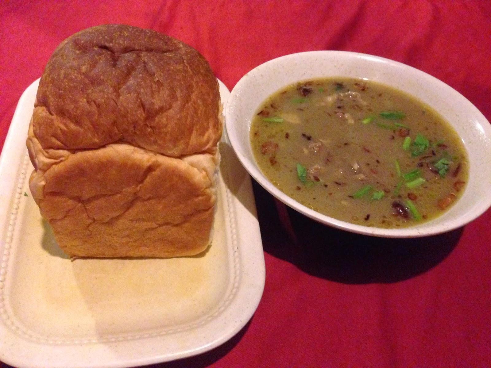 Roti arab & sup kambing at Puncak Mutiara Cafe