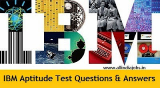 IBM Aptitude Test