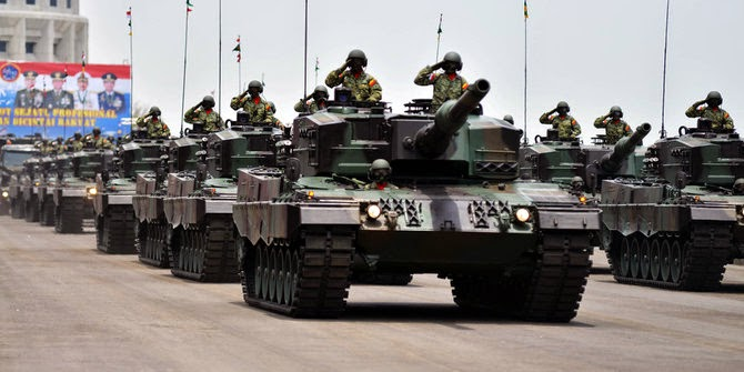 Urusan Impor Senjata Indonesia Tempati Ranking 8 Dunia
