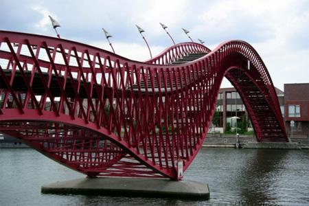 Puentes más curiosos del mundo - Python Bridge, Amsterdam