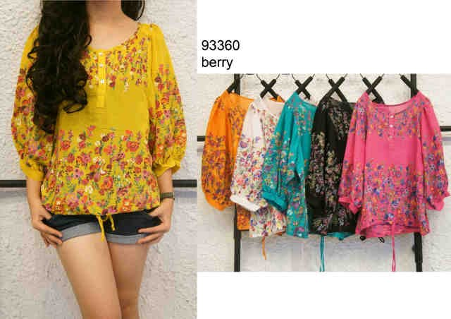 blouse katun berry M-93360
