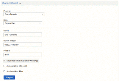 Cara Daftar OLX.co.id 2015 - Step 11