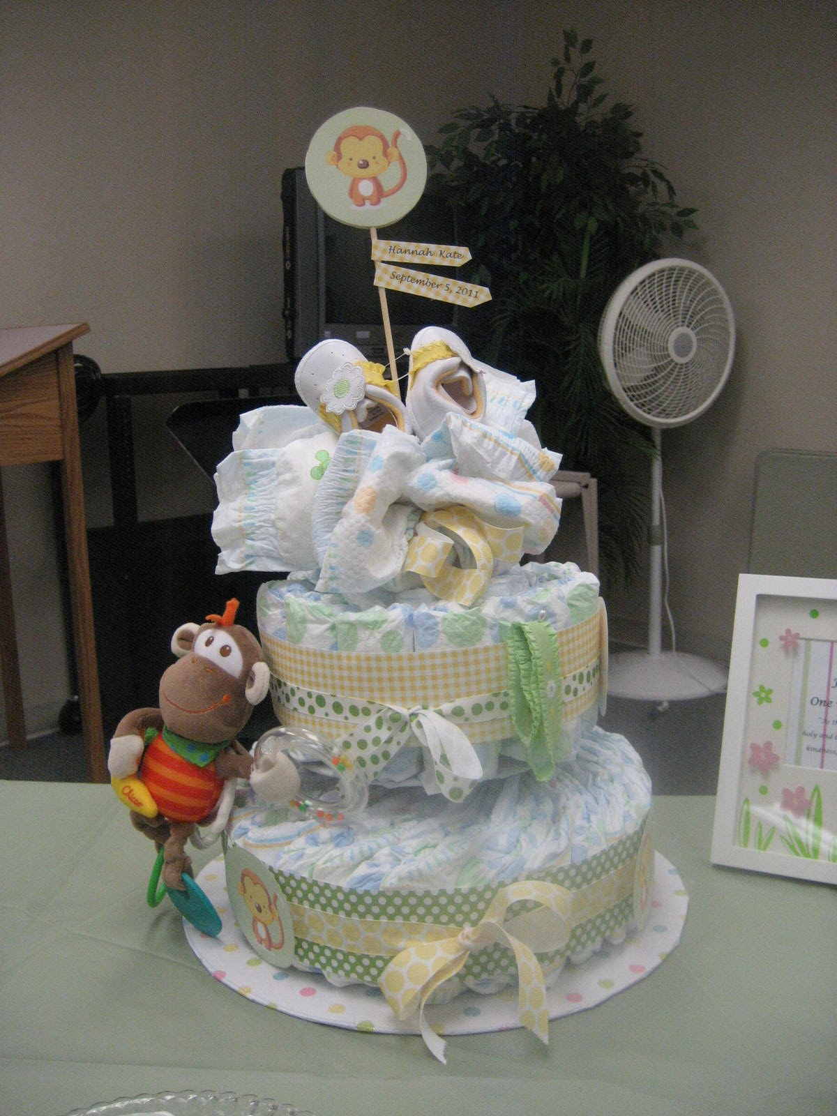 rubies running monkey theme baby shower
