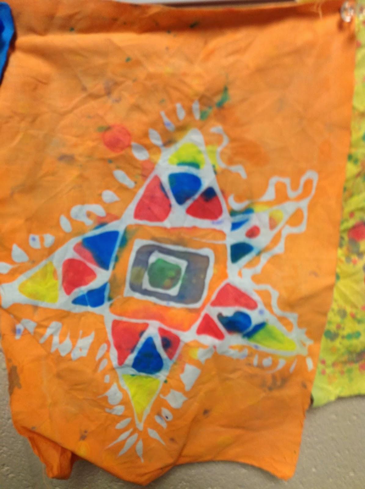 5th Grade Gel Glue Batik Art Lesson