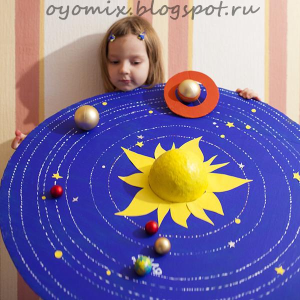 Как сделать солнечную систему макет своими руками