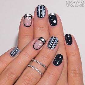 maryam maquillage nail art wintertheme
