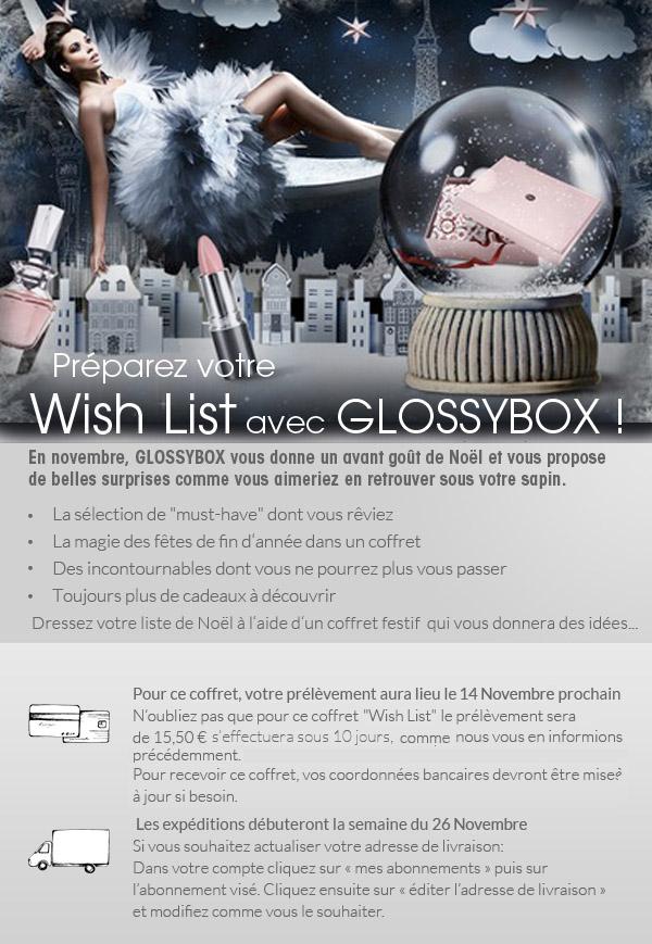 Glossybox Wishlist