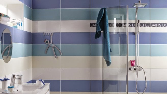 Beautiful Blue Shower Tiles  Contemporary  Bathroom  Mendelson Group