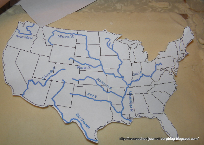 All Things Beautiful: Salt Dough Map of America