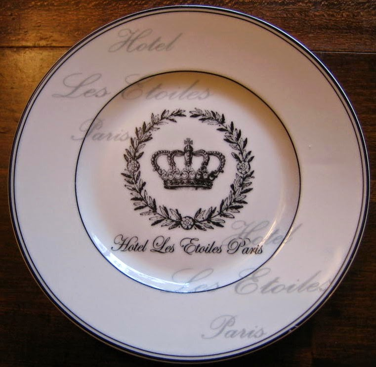 Paris Hotel Decorative Plate