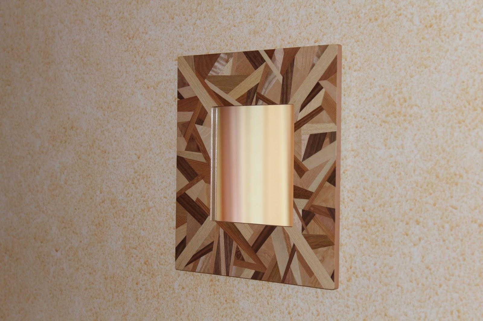 tableaux en marqueterie fr d rique cesbron miroir patchwork bois en marqueterie. Black Bedroom Furniture Sets. Home Design Ideas