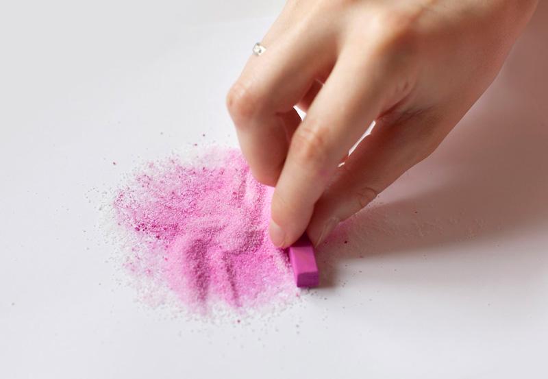 Как сделать из соли мелков