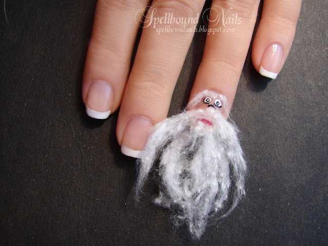 nails nail art nailart mani manicure Spellbound ABC challenge Santa B beard French Tips cotton ball Christmas