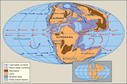 Jurassic sea currents