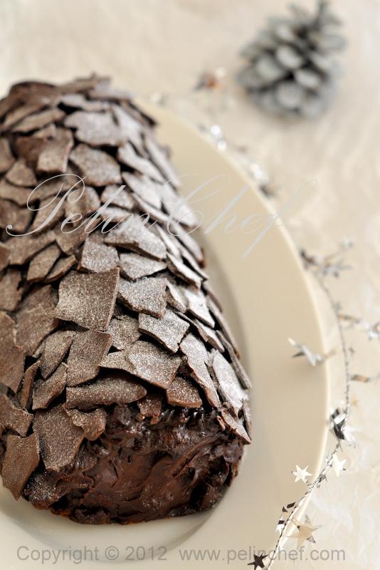 Cikolatali muzlu rulo pasta