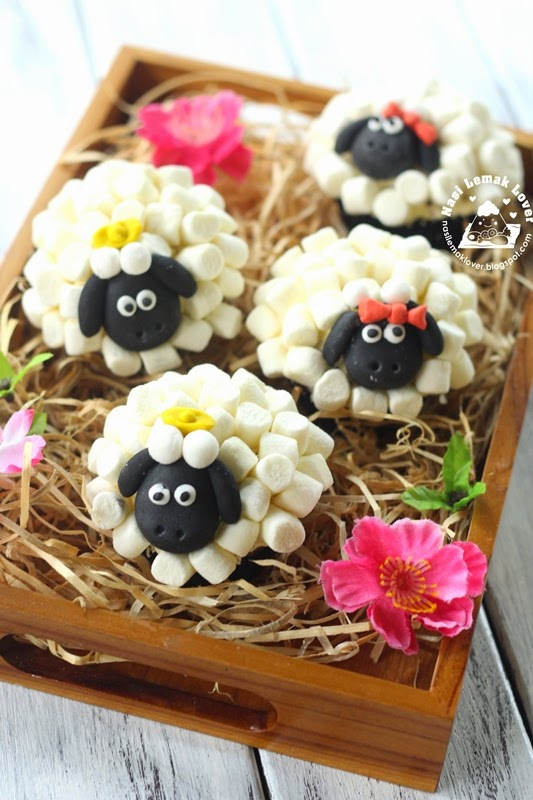Chocolate Marble Cake Sheep Face