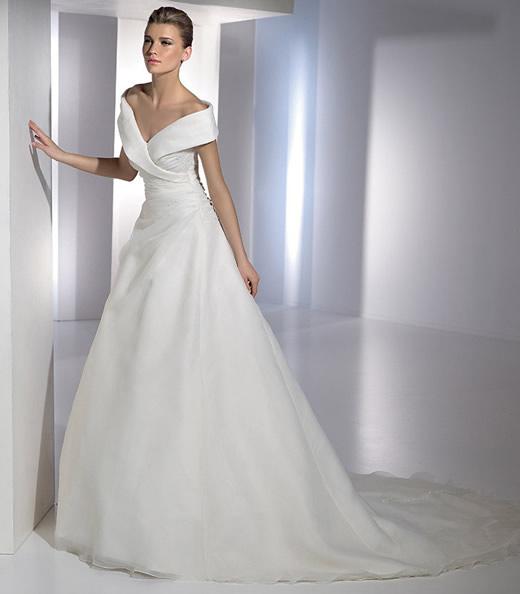 Elegir el mejor vestido para ti segunda parte mis for Off the shoulder satin wedding dress