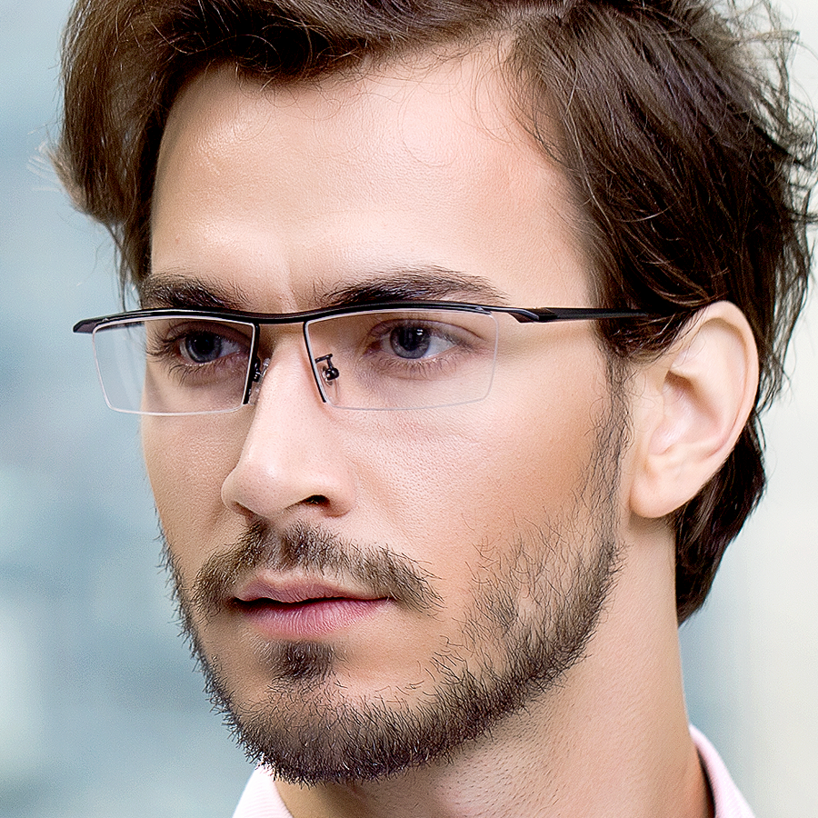 Glasses Frames Male : Titanium Glasses Box Ultra Light Klassic Corner