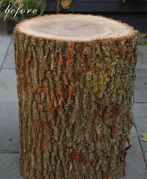 Tutorial: Como hacer una mesita auxiliar con un tronco