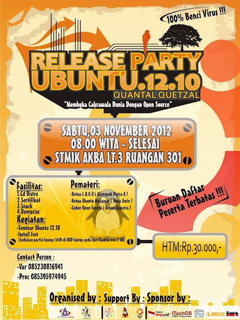 "Release party Ubuntu 12.10 ""Quantal Quetzal"" ~ Belajar ..."
