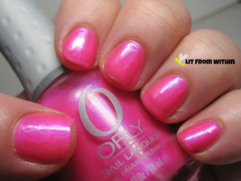 Orly Oh, Cabana Boy, a hot pink with a purple shimmer
