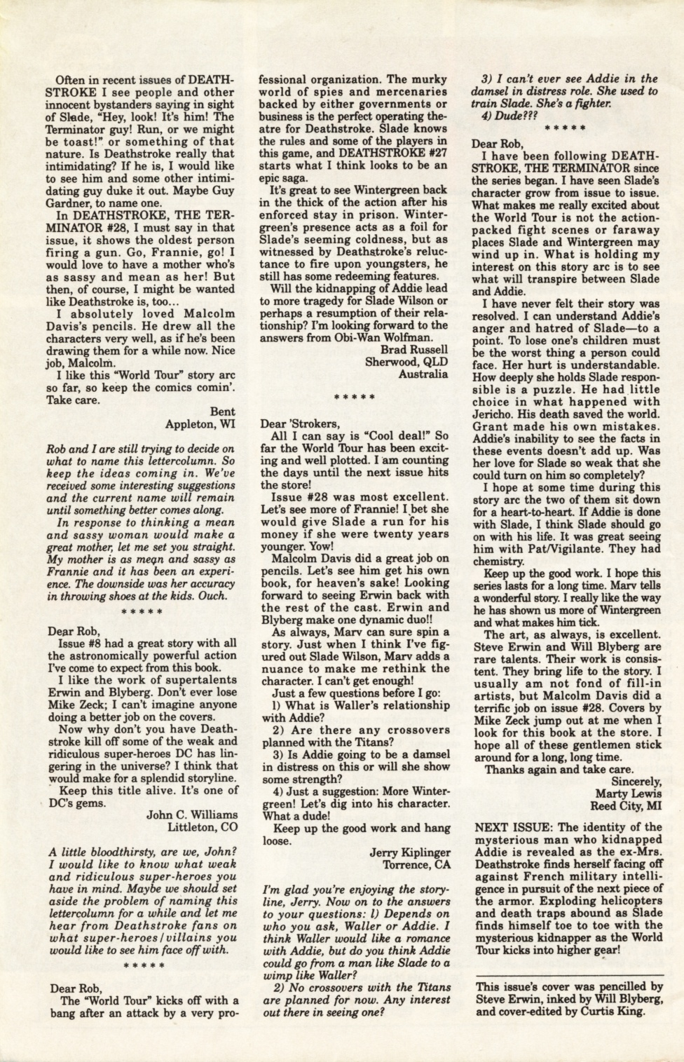 Deathstroke (1991) Issue #31 #36 - English 27