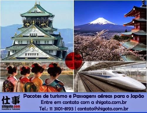 Pacote e passagem para o Japão
