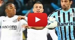 Grêmio 0 x 2 Santos: Veja os gols da partida
