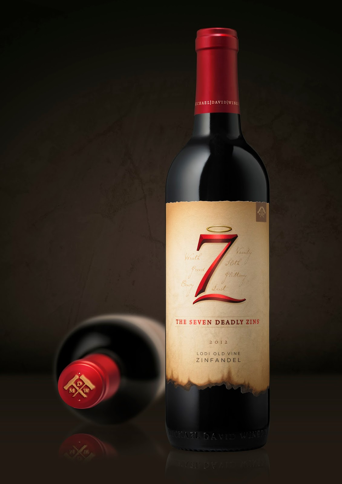 7 Deadly Sins Wine Glasses 7 Deadly Zins On Packaging Of The World Creative Package Design
