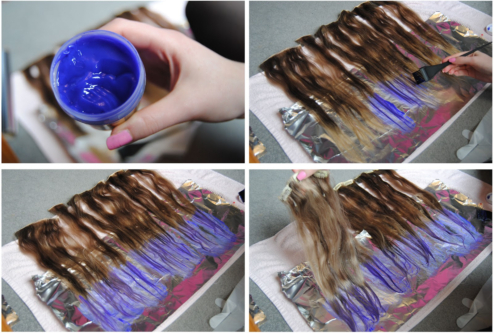 Diy lilac dip dye hair hello gwen start to apply the dye with your tint brush you can get one in superdrug or boots for a few pounds dye as much of the tips as you like pmusecretfo Choice Image