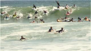 captain barbossa surfing lowers trestles