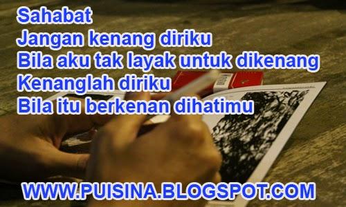 """Puisi Sahabat Perpisahan Akhir Tahun """"Ediasi Ajunua Linglung"""""""