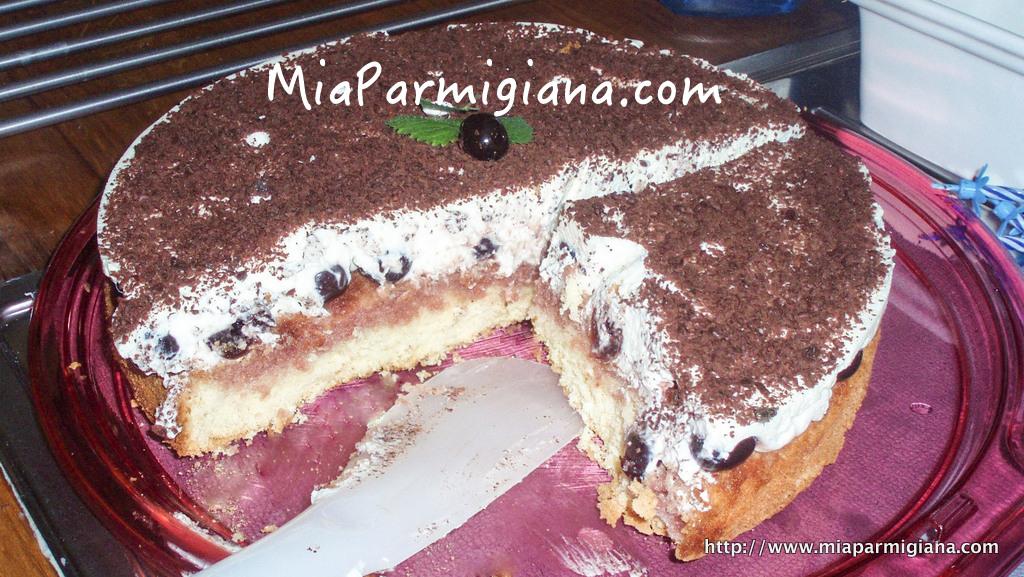 Вишнёвый пирог с маскарпоне рецепт