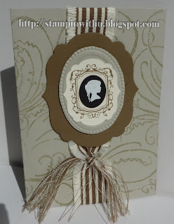 Silhouette Shabby Chic Card