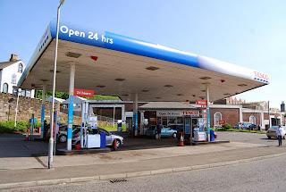Tesco petrol station forecourt