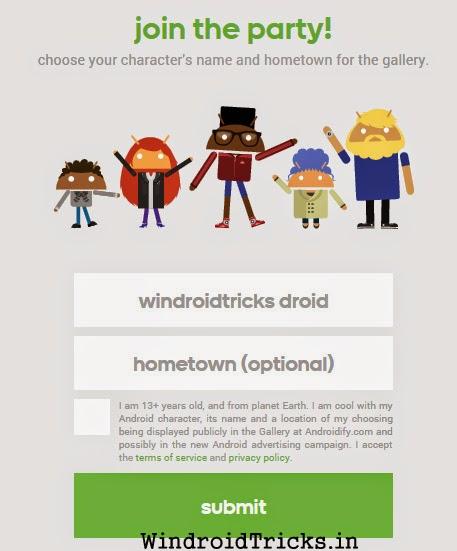 androidify form
