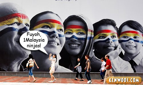 malaysia flag on face