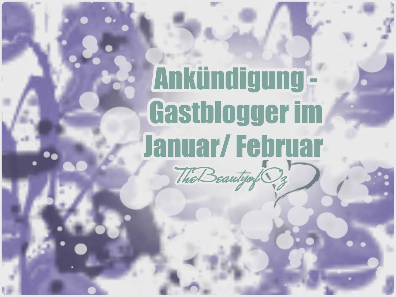 Ankündigung Gastblogger im Januar/ Februar 2014