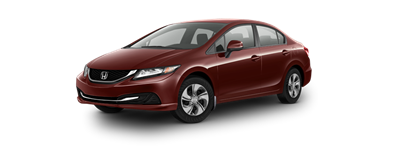 2013 Honda Civic Sedan LX Crimson Red