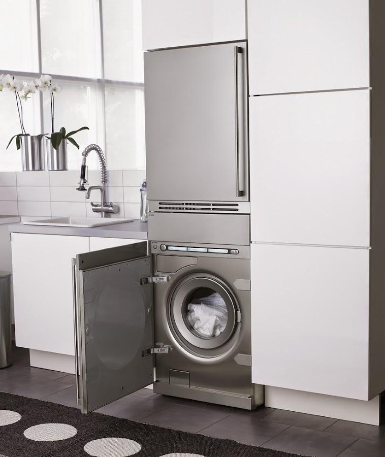 Integrar la zona de lavadero en la cocina decoraci n for Ocultar lavadora