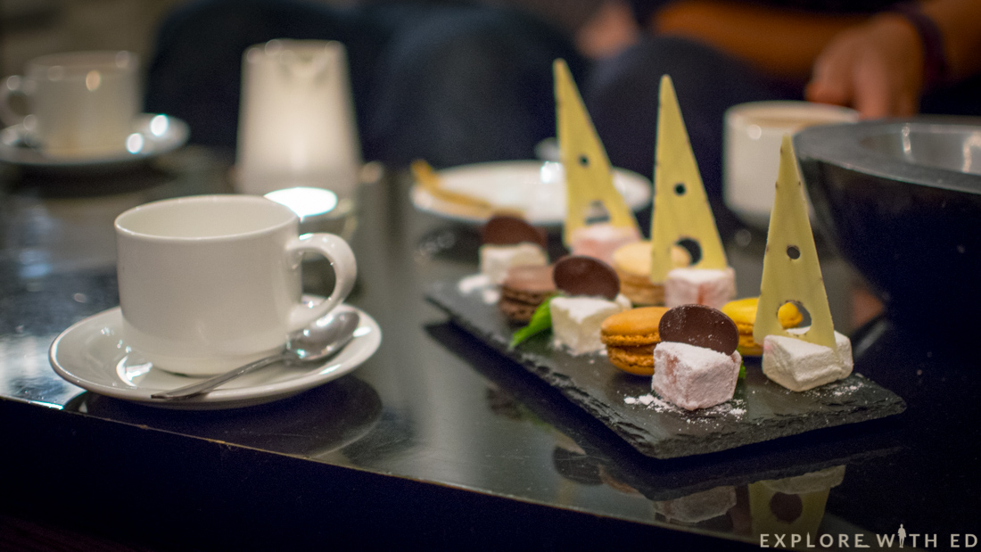 Petit Fours, Tea, Chef's Table Tasting Menu
