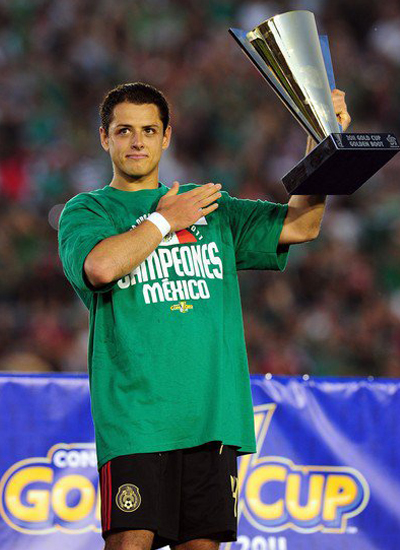 Javier Hernandez Man Utd Mexico Gold Cup 2011 Most Valuable Player
