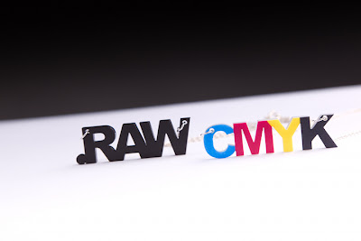 Geeky .RAW Extension & CMYK Designer Necklaces