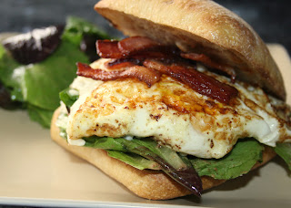 ... Serving Up {Breakfast}: Fried Egg Sandwich with Bacon and Gorgonzola