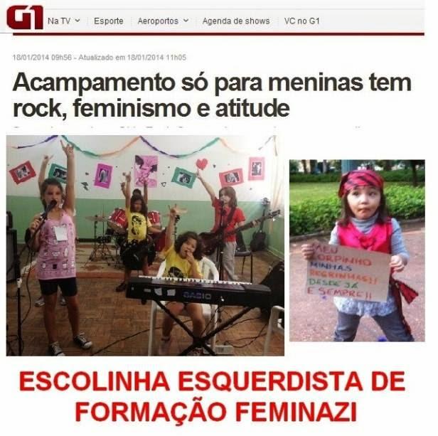"""Doutrinação Feminazi: Acampamento só para meninas tem """"rock, feminismo e atitude"""""""