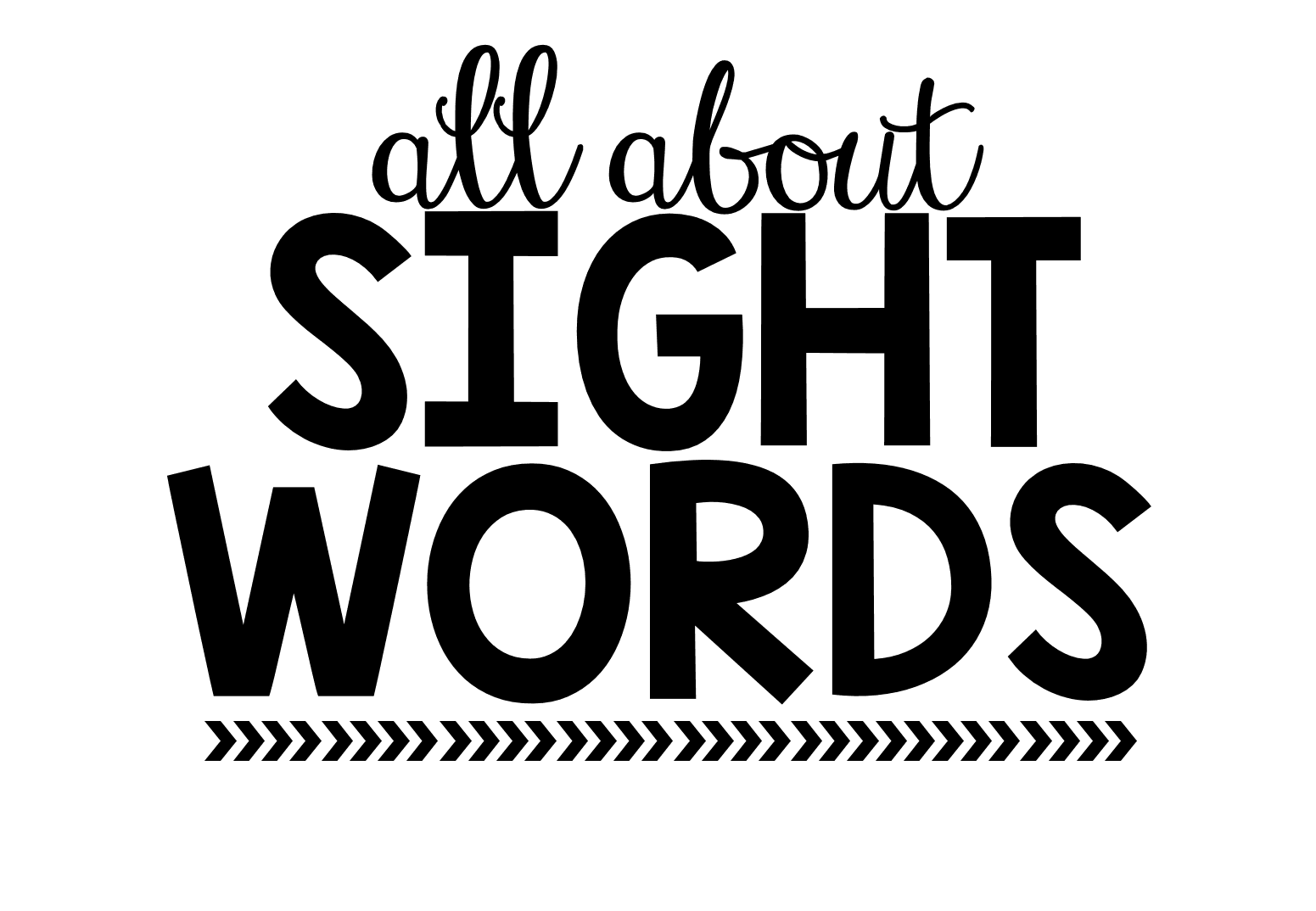 Worksheet Slight Words all about sight words little minds at work words
