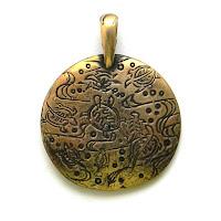 купить кулон из бронзы украина планета черепах медальон