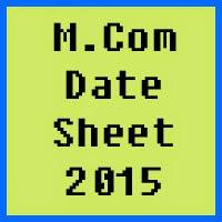 University of Azad Jammu and Kashmir M.Com Date Sheet 2016 Part 1 and Part 2